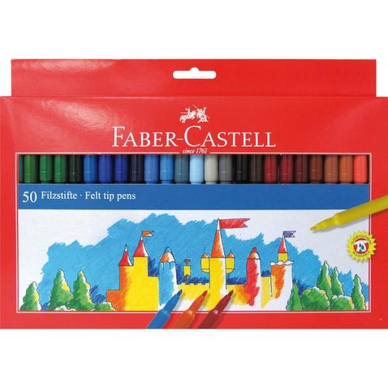 Image of Viltstiften gekleurd 50 stuks