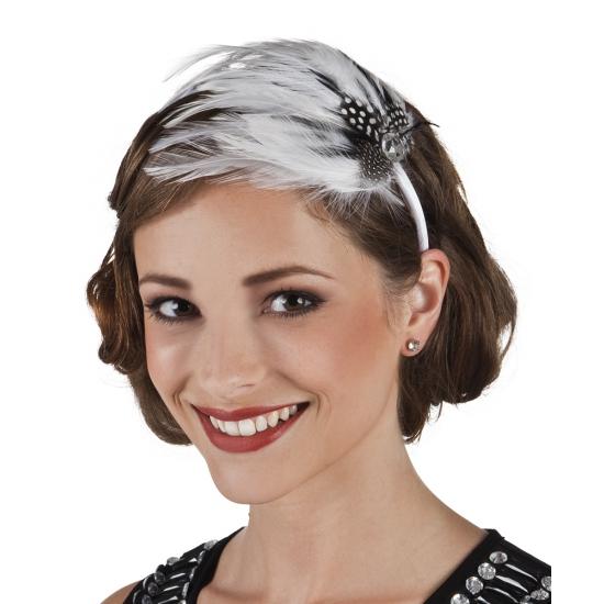 Image of Vintage haarbanden met veren