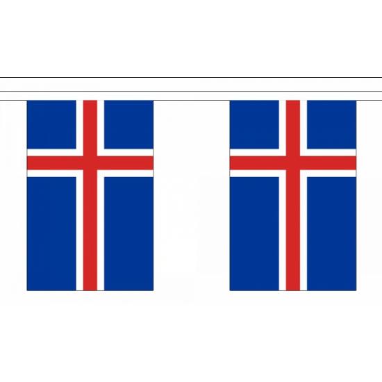 Vlaggenlijn IJsland 9 m