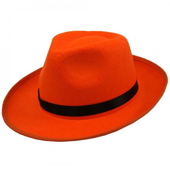 Voetbalsupporter oranje hoed