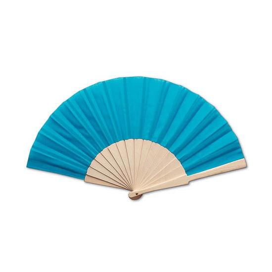 Image of Voordelige turquoise hand waaier