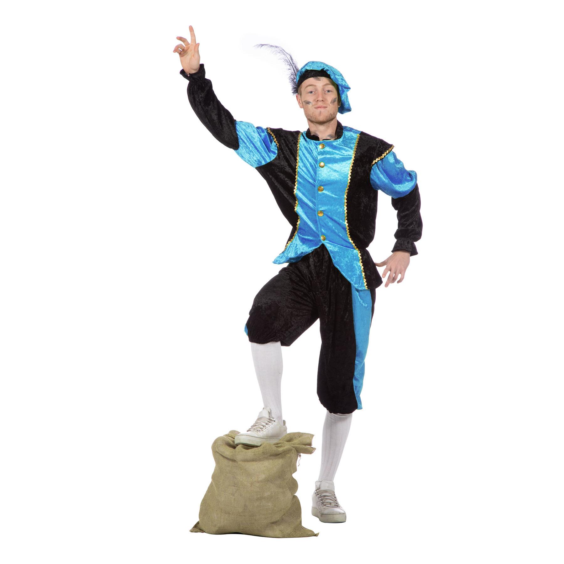 Image of Voordelige Zwarte Piet kostuums blauw