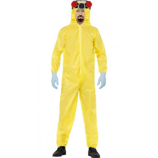 Breaking bad kostuum. heisenberg in het bekende gele hazmat pak inclusief masker, handschoenen en sik. dit ...