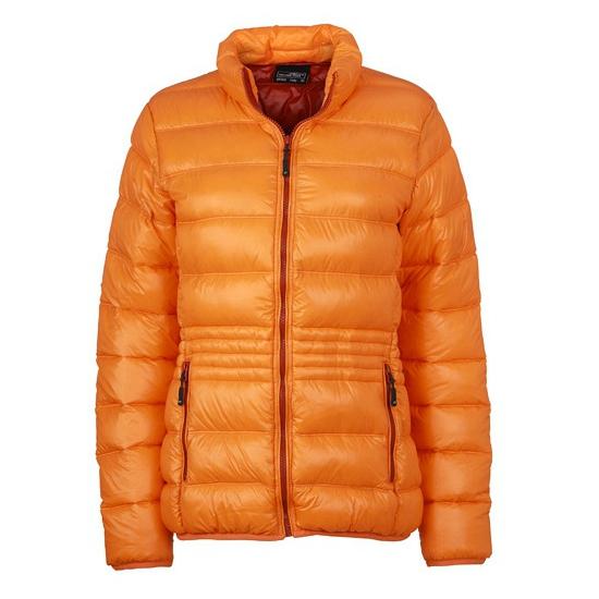 Warme winterjas oranje voor dames