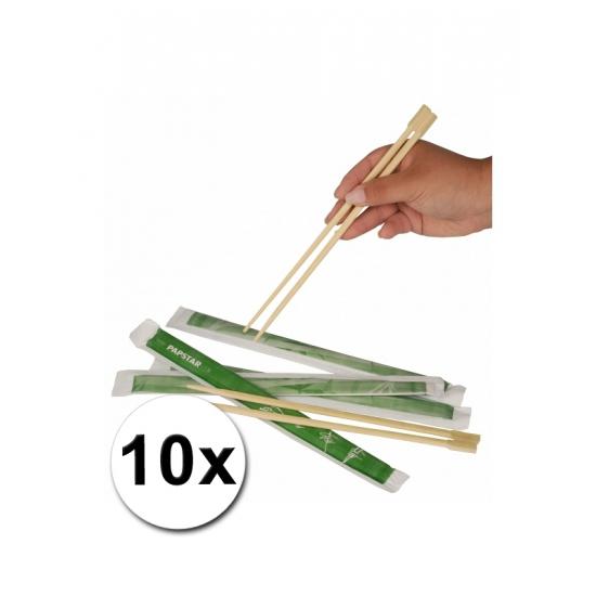 Image of Wegwerp eetstokjes 10x 2 stuks