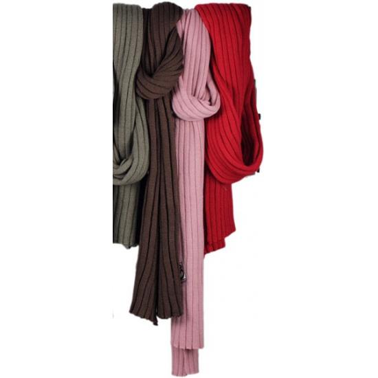 Image of Winterse donker roze sjaal