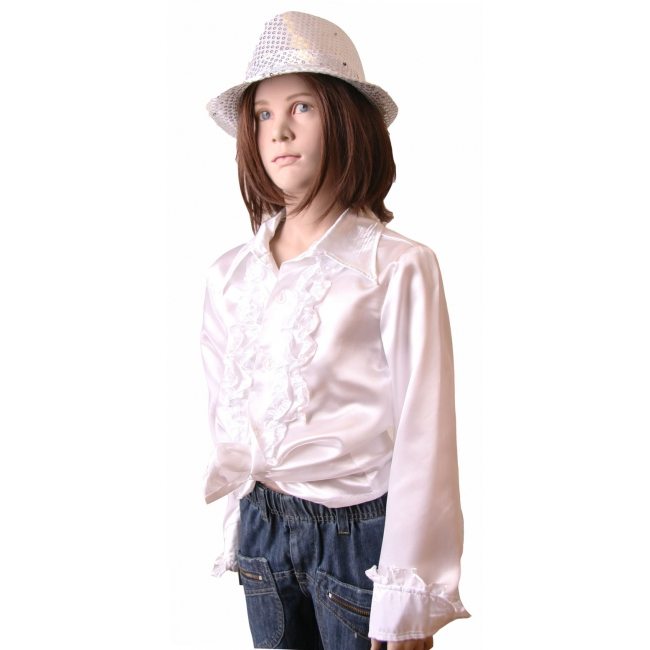 Image of Wit disco shirt voor meisjes