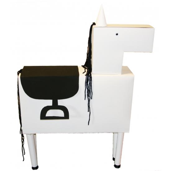 Image of Wit paard knutselen startpakket