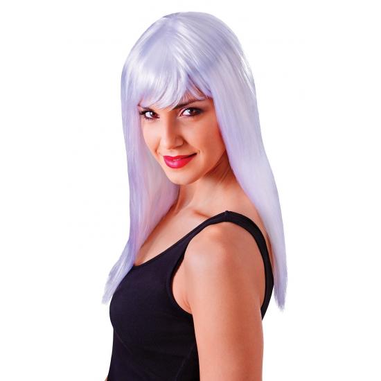 Image of Witte damespruik met froufrou
