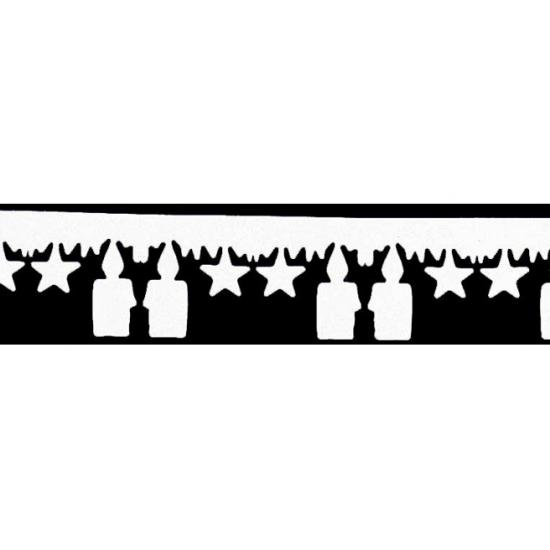 Image of Witte kerstslinger met kaarsen