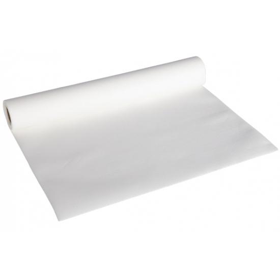 Image of Witte kleur tafelloper van papier