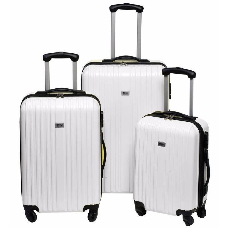 Image of Witte koffer op wielen 66 cm
