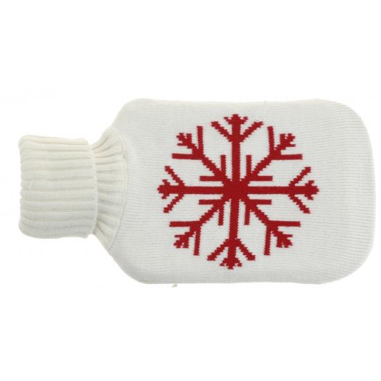 Image of Witte kruik met sneeuwvlok