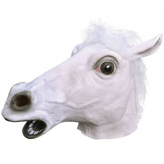 Image of Witte paarden kop masker voor volwassenen