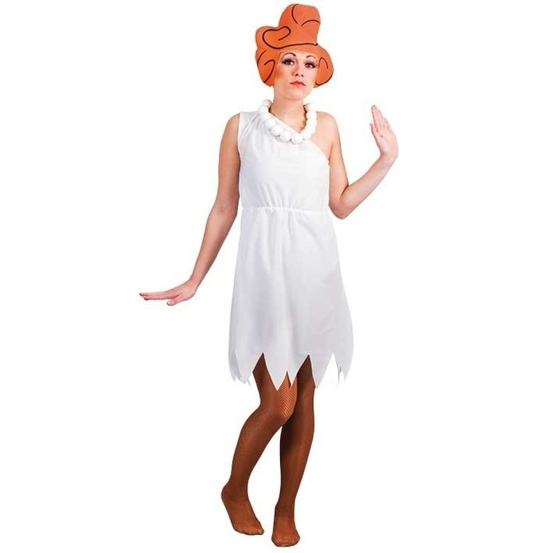 Image of Witte Wilma jurk voor dames