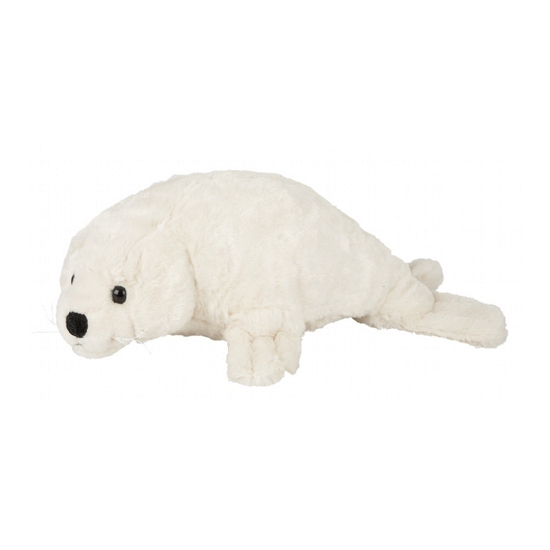 Image of Witte zeehond knuffel met kraalogen 40 cm