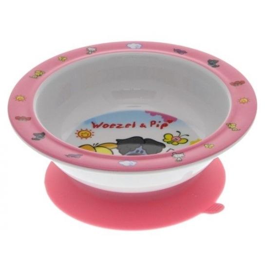 Image of Woezel en Pip bord met zuignap roze