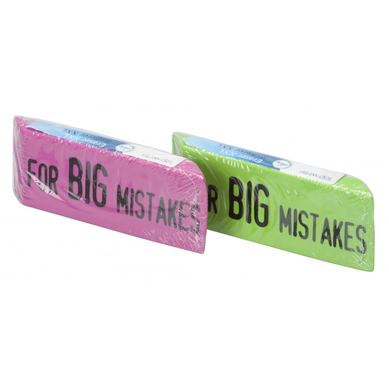 Image of XXL Big Mistake gum 14 x 4,5 cm groen