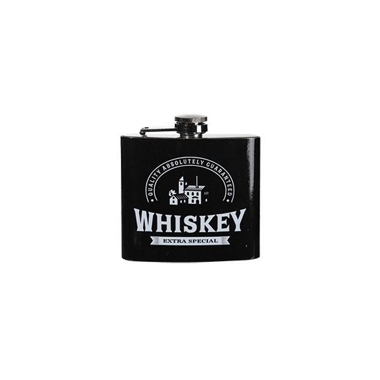 Image of Zakflacon whiskey rvs zwart