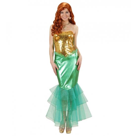 Zeemeermin kostuum voor dames. dit zeemeermin kostuum bestaat uit een jurk met aangehechte tule aan de ...