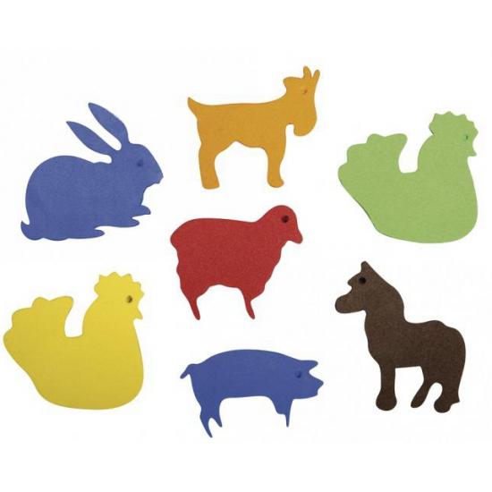 Image of Zelfklevende crepla diertjes 80 stuks