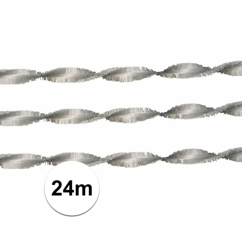 Image of Zilveren crepe slingers 24 meter