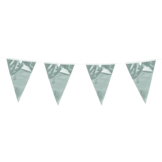 Image of Zilveren slinger met 20 vlaggetjes
