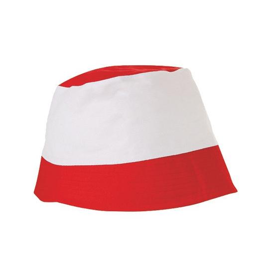 Image of Zonnehoedjes rood en wit