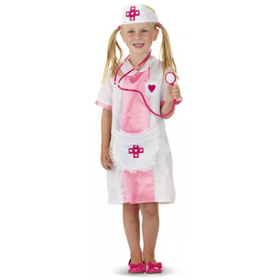 Zuster kostuum voor meisjes. dit zuster kostuum voor meisjes bestaat uit een jurkje met schort en een hoedje....