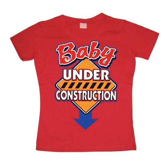 Zwanger Baby Under Construction dames shirt