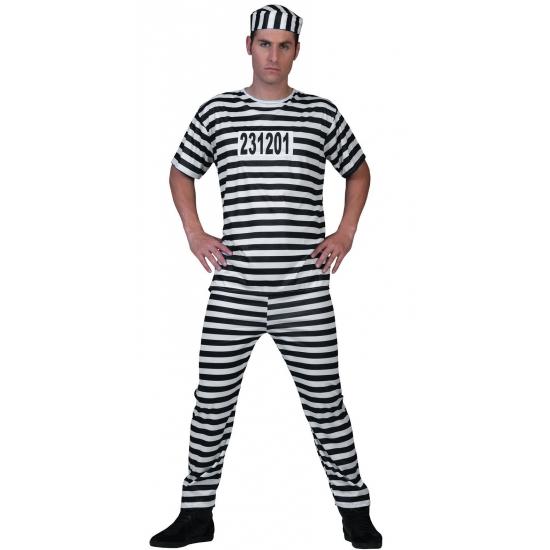 Image of Zwart wit gestreept boevenpak