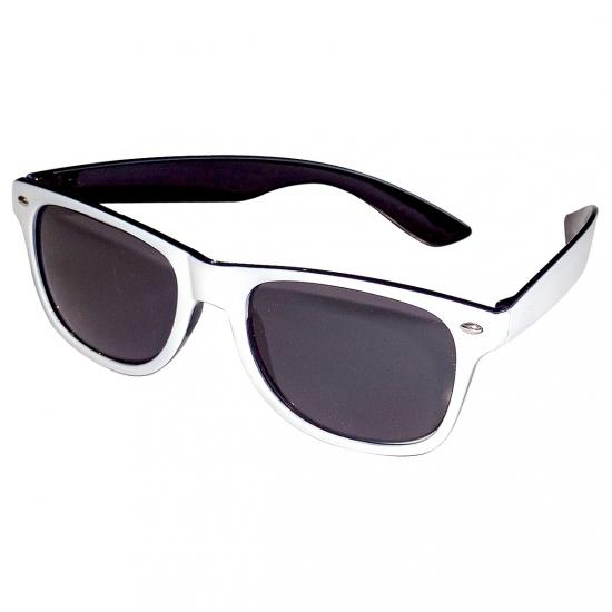 Image of Zwart/witte bril voor volwassenen