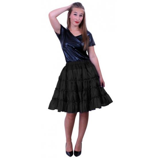 Zwarte carnaval petticoat 5-laags