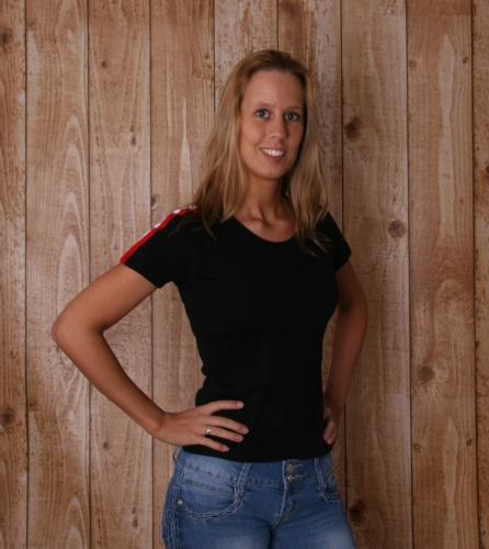 Zwarte dames T shirt met NL bies