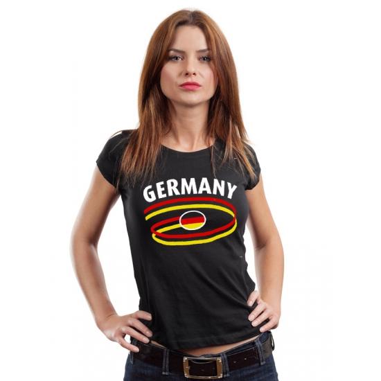 Image of Zwarte dames t-shirts Duitsland