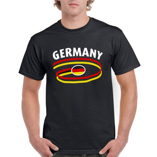 Image of Zwarte heren t-shirts Duitsland