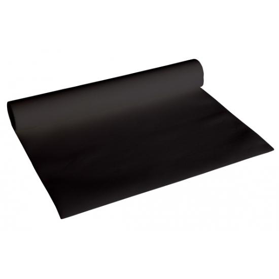 Image of Zwarte kleur tafelloper van papier