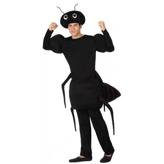 Zwarte mier outfit voor volwassenen