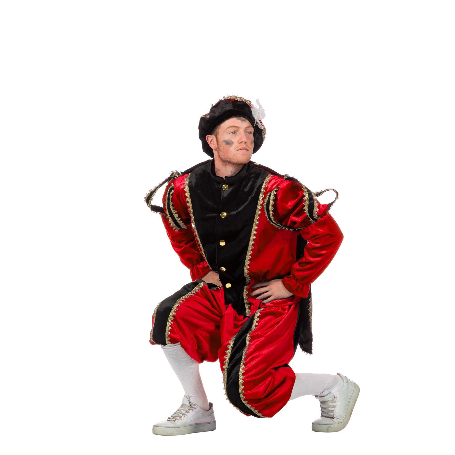 Image of Zwarte Pieten kostuum zwart+rood