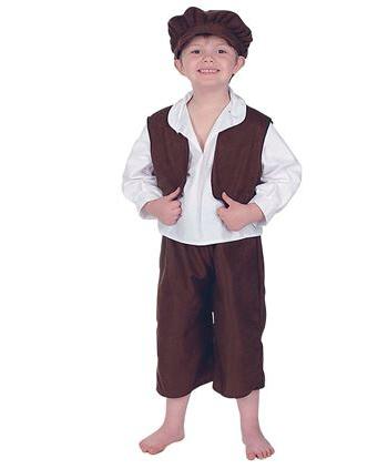 Straatjongetje kostuum voor kinderen. ouderwets straatjongetjes kostuum met broek, shirt, vestje en pet....