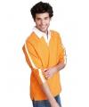 Katoenen heren shirt oranje