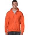 Sweater met rits oranje