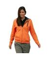 Sweatvest voor dames oranje