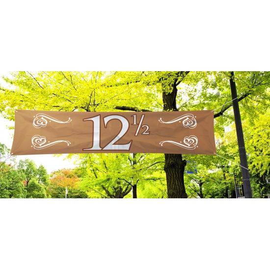 12,5 jaar jubileum decoratie banner