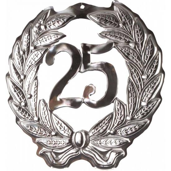 25 jaar decoratie bord
