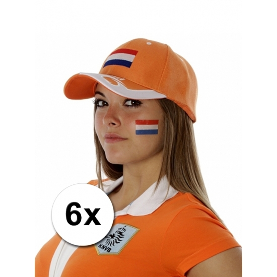 6 fan artikel Holland tattoo stickers