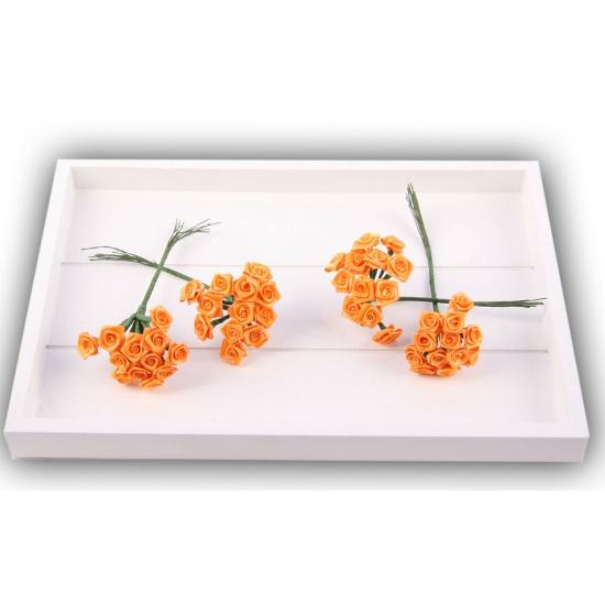 Bosje oranje decoratie rozen 12 cm
