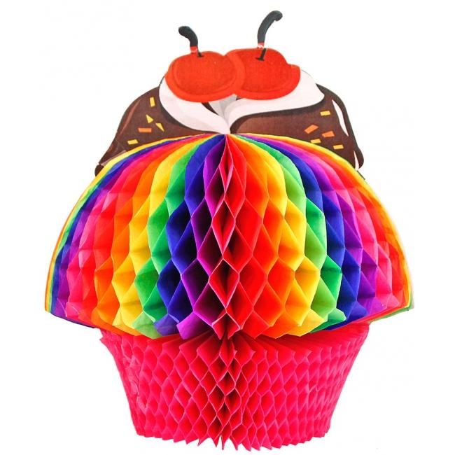 Cupcake decoratie van 20 cm
