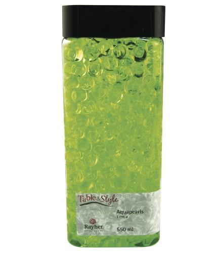 Decoratie aqua parels groen 1 cm