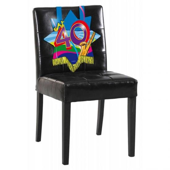 Feest versiering stoel 40 jaar